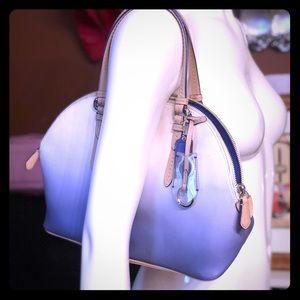 Coach Cora ombre blue domed Peyton handbag